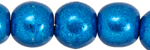 Round Beads 4mm : ColorTrends: Saturated Metallic Galaxy Blue