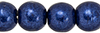 Round Beads 4mm : ColorTrends: Saturated Metallic Evening Blue