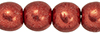 Round Beads 4mm : ColorTrends: Saturated Metallic Cranberry