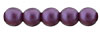 Glass Pearls 4mm : Purple Velvet