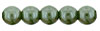 Round Beads 4mm : Pearl - Sage Green