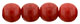 Round Beads 4mm : Opaque Red