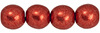 Round Beads 6mm : ColorTrends: Saturated Metallic Cranberry