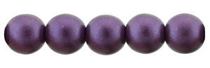Glass Pearls 6mm : Purple Velvet