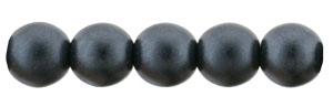 Glass Pearls 6mm : Charcoal