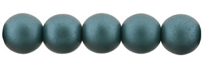 Glass Pearls 6mm : Matte - Teal