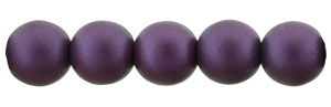 Glass Pearls 6mm : Matte - Purple Velvet