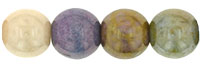 Round Beads 6mm : Opaque Luster Mix
