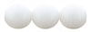 Round Beads 8mm : Opaque White