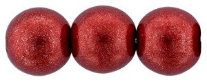Round Beads 8mm : ColorTrends: Saturated Metallic Cherry Tomato