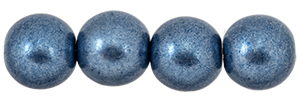 Round Beads 8mm : ColorTrends: Saturated Metallic Bluestone