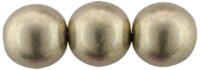 Round Beads 8mm : ColorTrends: Sueded Gold Cloud Dream
