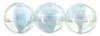 Round Beads 8mm : Luster - Crystal/Lt. Blue