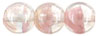 Round Beads 8mm : Luster - Crystal/Pink