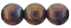 Round Beads 8mm : Luster - Opaque Bronzed Smoke