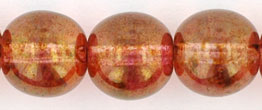 Round Beads 10mm : Luster - Rose/Gold Topaz