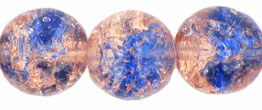 Round Crackle Beads 10mm : Lt Pink/Blue