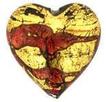 Gold Foil Hearts 18/18mm : Ruby