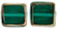 Stained Glass Squares 14 x 13mm: Emerald