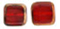 Stained Glass Squares 14/13 mm: Siam Ruby