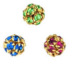 Rhinestone Balls 6mm - Gold