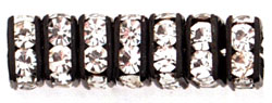 Rhinestone Squaredelles 4.5mm : Black - Crystal