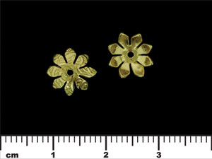 Eight Petal Flower End Cap 10/4mm : Brass