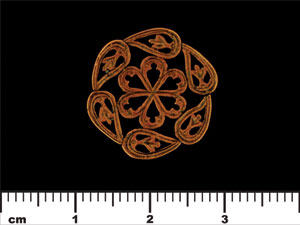 Nouveau Medallion 19mm : Antique Copper