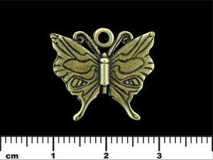 Butterfly Charm 20/23mm : Antique Brass