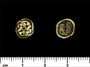 Knotwork Bead Cap 10mm : Antique Brass