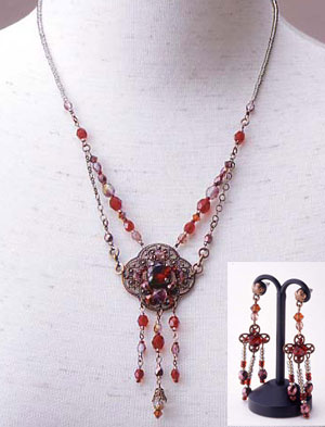 TOHO - Elegant Jewelry Kits : Glass Cubic - Necklace and Earring Set