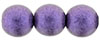 Round Beads 10 mm : Metallic Suede - Purple (Loose)