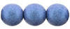 Round Beads 10 mm : Metallic Suede - Blue (Loose)