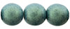Round Beads 10 mm : Metallic Suede - Lt Green (Loose)