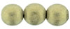 Round Beads 10mm : Metallic Suede - Gold (Loose)
