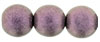 Round Beads 10 mm : Metallic Suede - Pink (Loose)