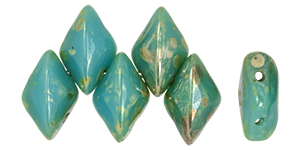 "GEMDUO 8 x 5mm Tube 2.5"" : Blue Turquoise - Rembrandt"