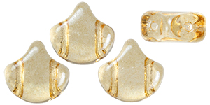 Matubo Ginkgo Leaf Bead 7.5 x 7.5mm (loose) : Luster - Transparent Champagne