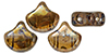 Matubo Ginkgo Leaf Bead 7.5 x 7.5mm (loose) : Smoky Topaz - Rembrandt