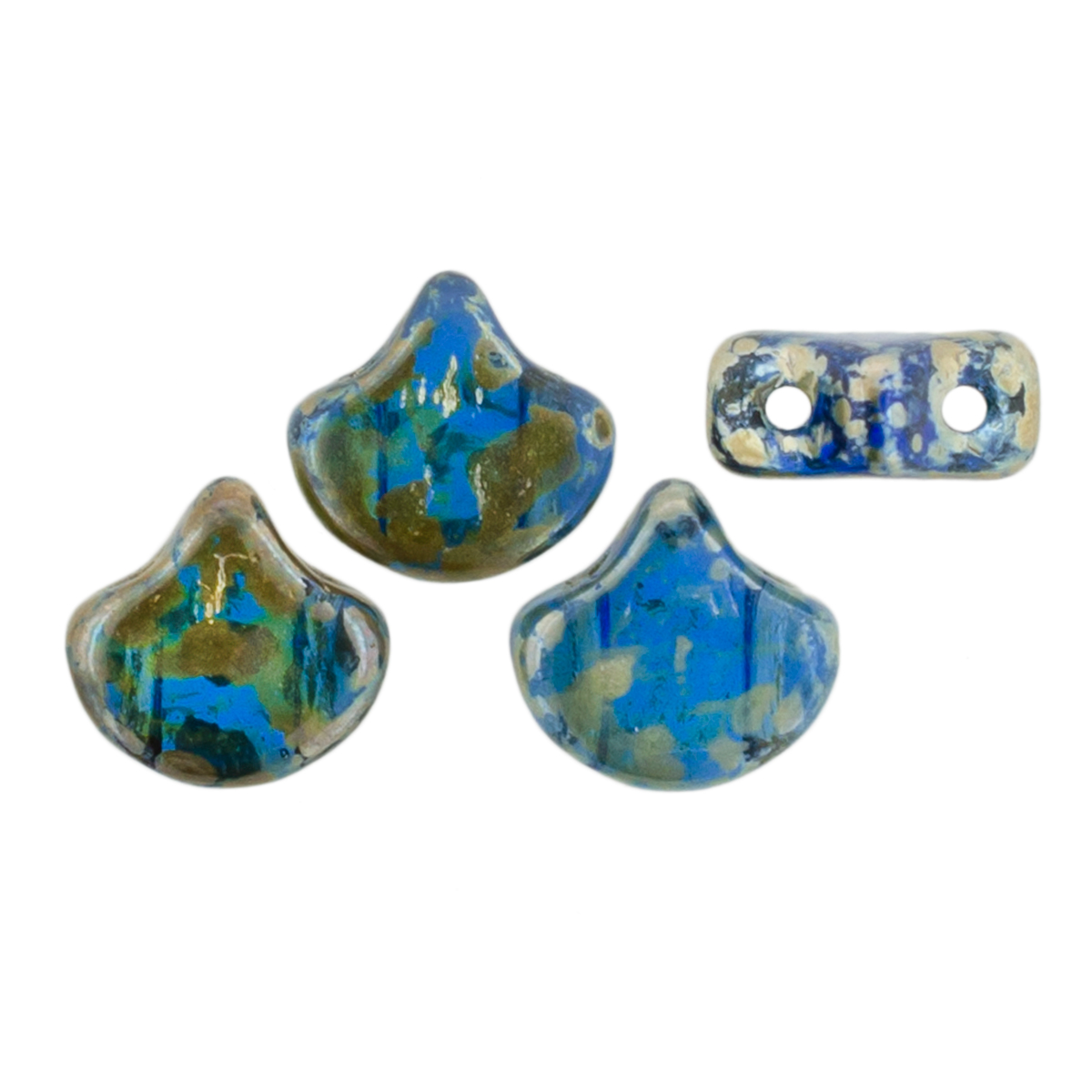 Matubo Ginkgo Leaf Bead 7.5x7.5mm (loose) : Sapphire - Rembrandt