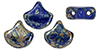 Matubo Ginkgo Leaf Bead 7.5 x 7.5mm (loose) : Opaque Blue - Rembrandt