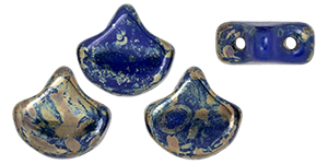 Matubo Ginkgo Leaf Bead 7.5 x 7.5mm : Opaque Blue - Rembrandt