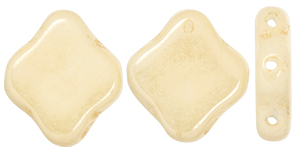 "Quatrefoil 3-Hole Tile 8mm 2.5"" Tube : Luster - Opaque Champagne"