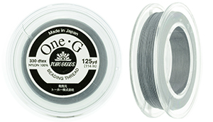 TOHO One-G Thread 125 Yard Spool : Gray