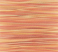 Amiet Thread : Fine Peach Variegated