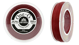 TOHO One-G Thread 250 Yard Spool : Red