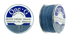 TOHO One-G Thread 50 Yard Spool : Blue