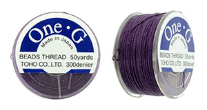TOHO One-G Thread 50 Yard Spool : Purple