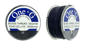 TOHO One-G Thread 50 Yard Spool: Navy