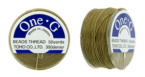 TOHO One-G Thread 50 Yard Spool: Sand Ash